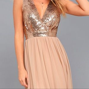 Lulu's Rose Gold Gown